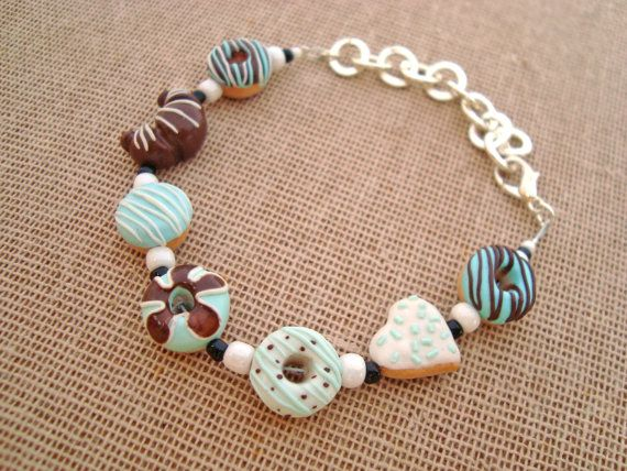 Check out this item in my Etsy shop https://www.etsy.com/listing/224207764/pastel-blue-and-chocolate-donut-bracelet