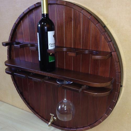 #Полка #навесная для #хранения #вина HP-001 эксклюзивное изделие мебели из массива, предназначенное для #хранения #винных #бутылок.  Количество бутылок и бокалов для вина на полках - по 5шт. Элементы «Полки навесной для хранения вина» изготавливаются из массива: Бук, (Ясень, Дуб, Клен - на заказ).