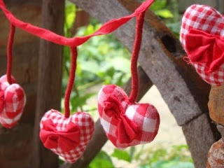 rustic heart garland