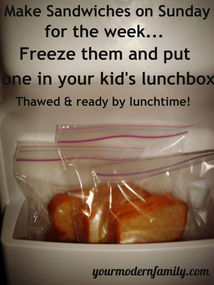 Prepare lunches once for the week