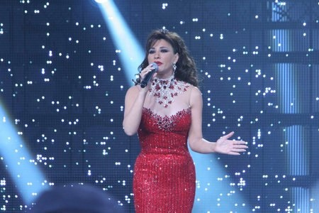 Najwa Karam by TONY YAACOUB #fashion #dress #design #celebrities #lebanon #lebanese #gown #red