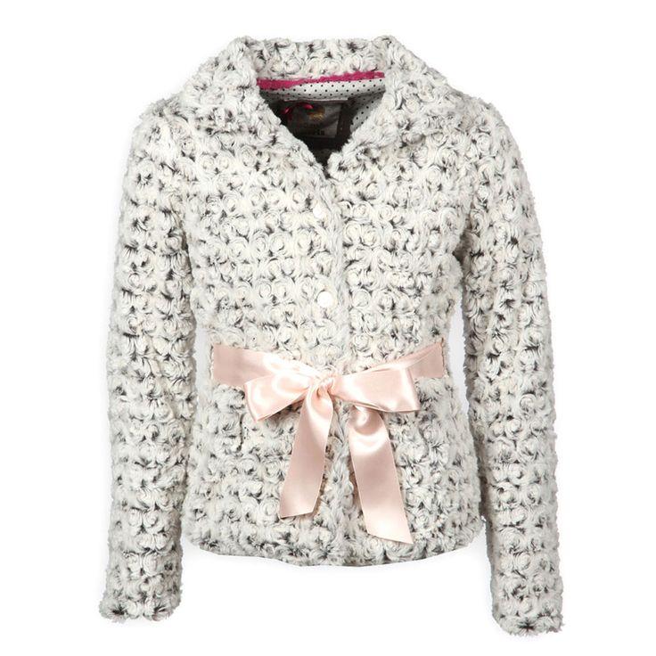 Kids Fashion Hippe Bomba Fur Blazer voor Meisjes Grijs Kinderkleding, Kindermode en Babykleding www.kienk.nl