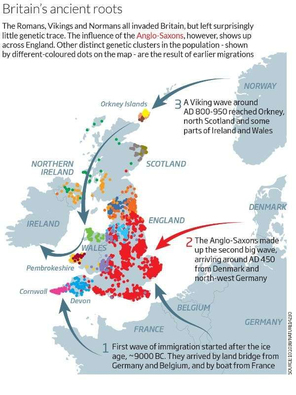 Map Of England 950.Ancient Invaders Transformed Britain But Not Its Dna History