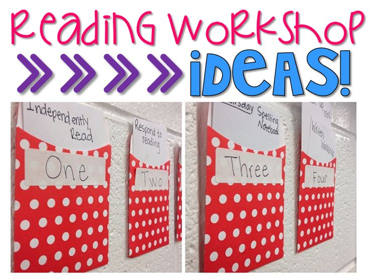 There so many ideas on how to organize reading workshop in the classroom! I love this pocket idea!