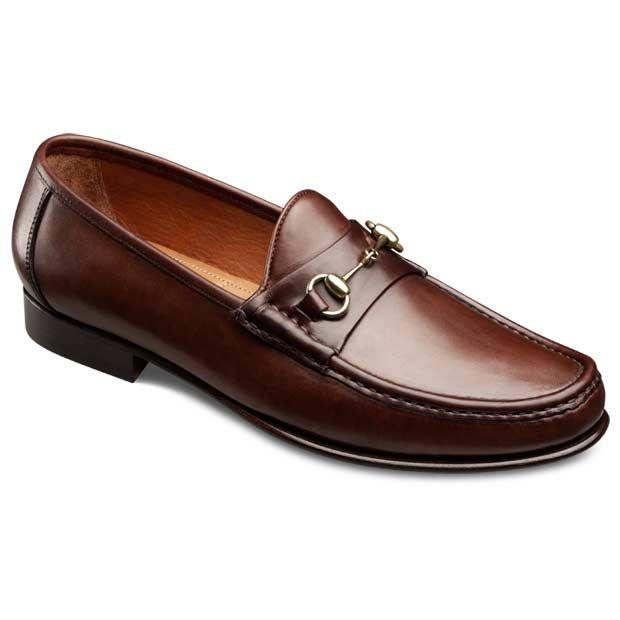 Verona II Italian Loafers - Italian Made Moc-toe Bit Slip-on Loafer Men's Dress Shoes by Allen Edmonds 12D