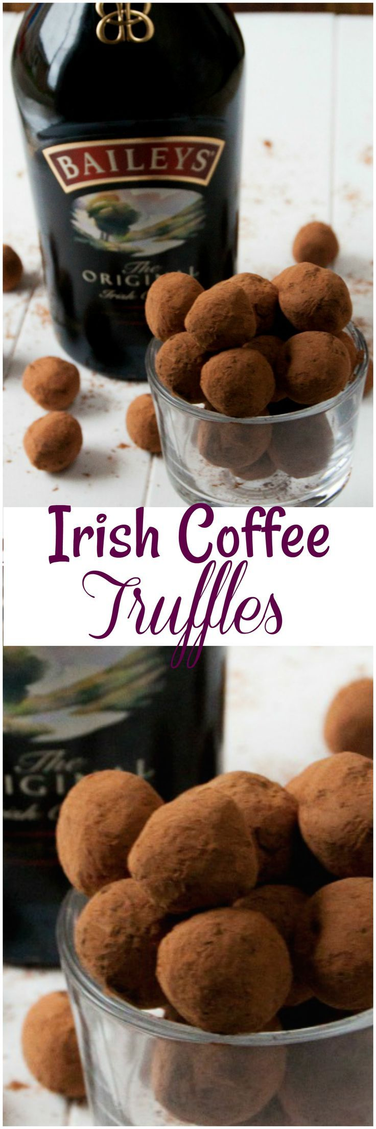 Irish Coffee Truffles. These Irish Coffee Truffles have a dark chocolate with a rich flavor from the coffee that mixes so well to give one amazing Truffle.
