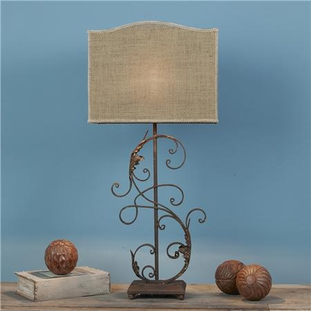 Rustic Chic Ironwork Table Lamp