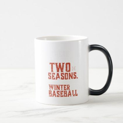 Grunge and Distressed Funny Baseball Quote Magic Mug - winter gifts style special unique gift ideas