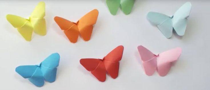 Pysseltips – de här pappersfjärilarna är jätteenkla att vika!
