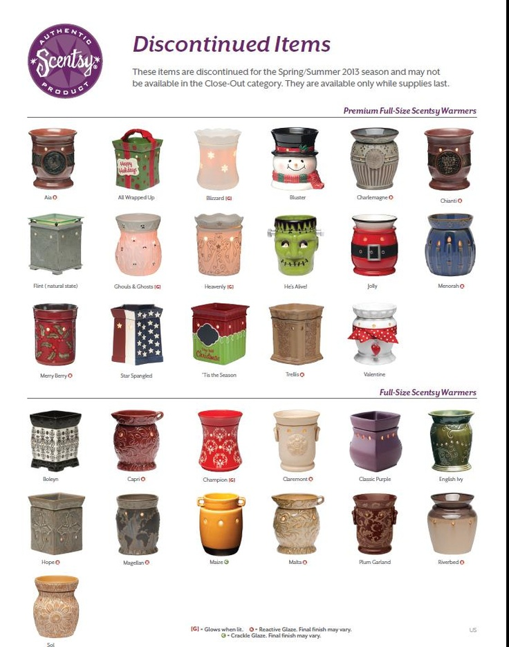Items to be discontinued from the Fall/Winter 2012-2013 #Scentsy catalog.  10% off in February