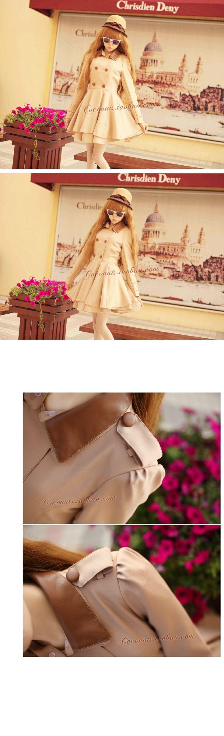 ● eksklusivt Fransk stil retro romantisk europeisk stil lagre skjørt kjole frakk frakk jente - Taobao