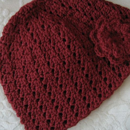 ladies crochet hat #crochet #hat #handmade: Colour, Crafts 3, Hats Crochet, Color, Hats Handmade, Cute Hats, Crochet Knits, Burgundy, Crochet Hats Glov