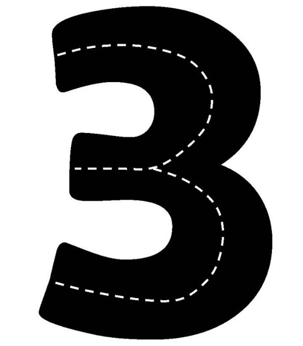 Dr. Jean's number roads for a preschool transportation theme... I wonder if the printing on black construction paper would actually work?