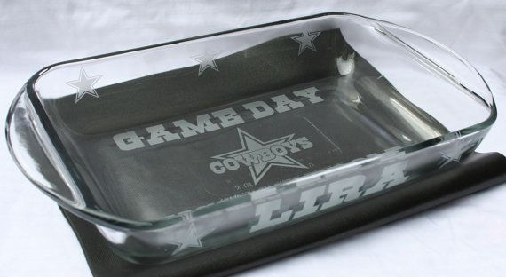 Dallas Cowboys Football GAMEDAY Casserole Dish ANY TEAM... OMGOSH my dad would love this @Rachael Russell