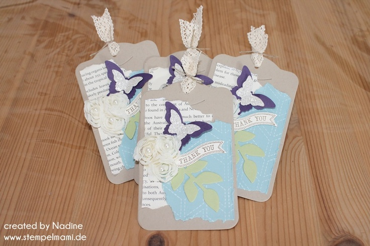Tag Stampin Up Tags Lesezeichen Bookmark Anhaenger