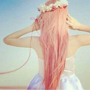 pretty pinky peach hair