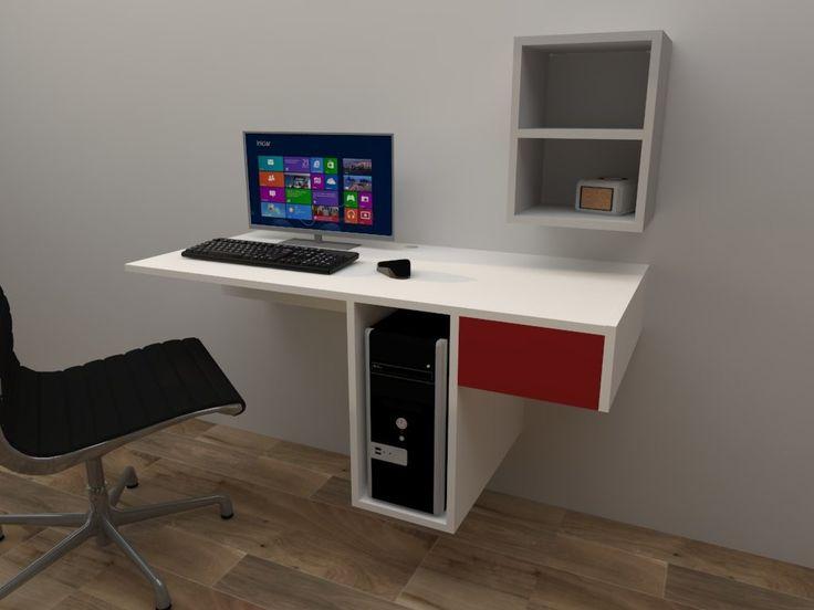 Las 25 mejores ideas sobre escritorio flotante en for Repisas en espacios pequenos