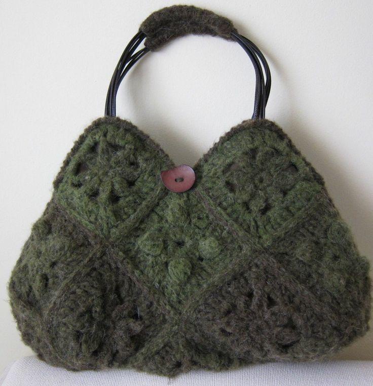 borsa crochet in lana mohair