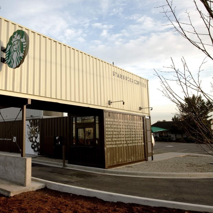 In an old Starbucks shipping container