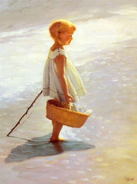 I. Davidi 1935, English: At The Beaches, Little Girls, Art Paintings, Davidi 1872, Art Prints, Beaches Houses, Art Children, Beaches Art, Young Girls