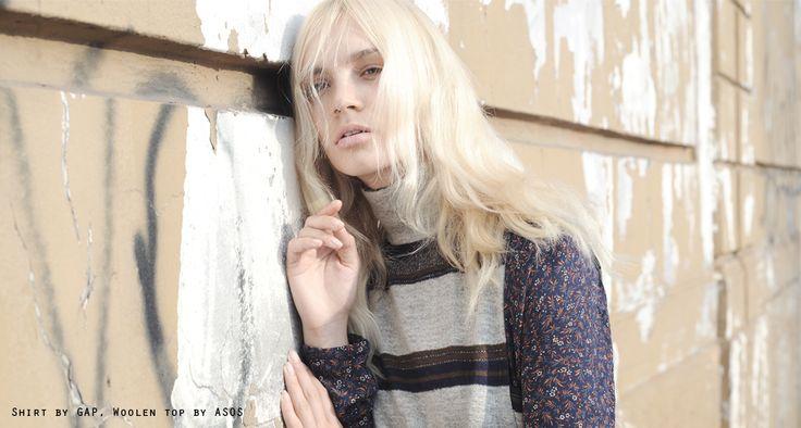 Popdam Magazine Issue 12 POPDAM 70's story Photographer: Daniela Iraci Fashion Stylist: Linda Loef Hair & Make up: Gigi Tavelli @ Freelancer Artist Agency Model: Liliya Kotsur @ Women Management Mohair top by FRANKIE MORELLO Hat by PANIZZA