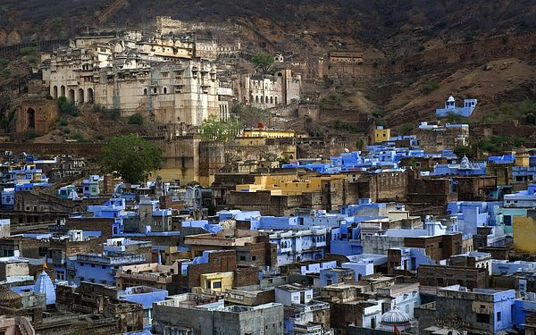 The Taragarh Fort, or 'Star Fort' is an impressive structures constructed in AD 1354 upon the top of a steep hillside overlooking the city of Bundi in the Hadoti region of Rajasthan in northwest India.
