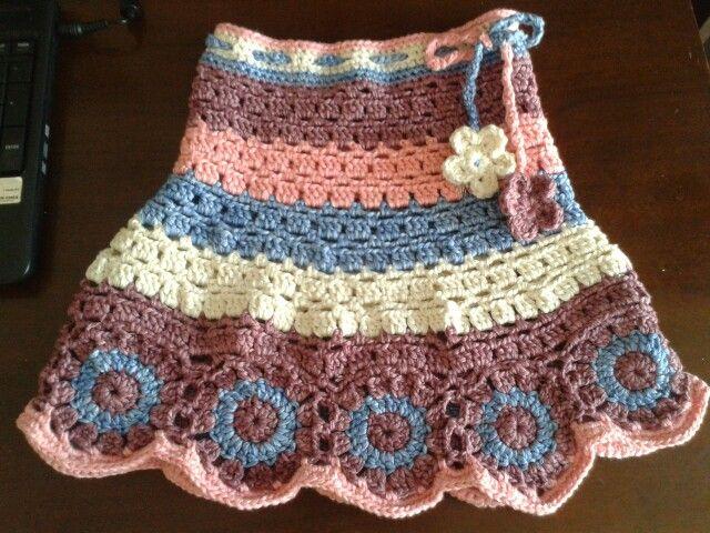 Crocheted skirt for my daughter.