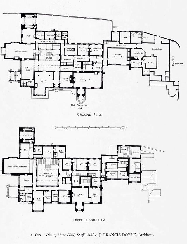 Maer Hall Staffordshire Plans Once Owned By The Son Of