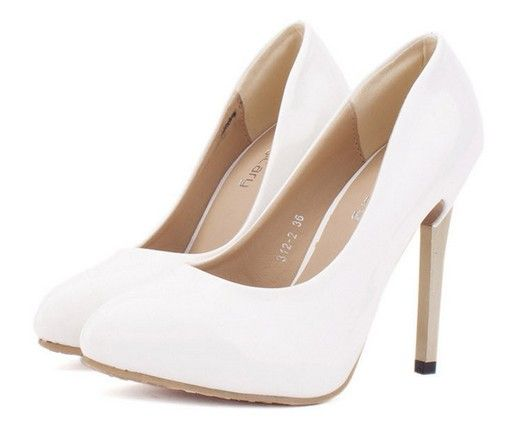 Elegant White High Heel SHoes (Perfectly plain with a stunning rear view)