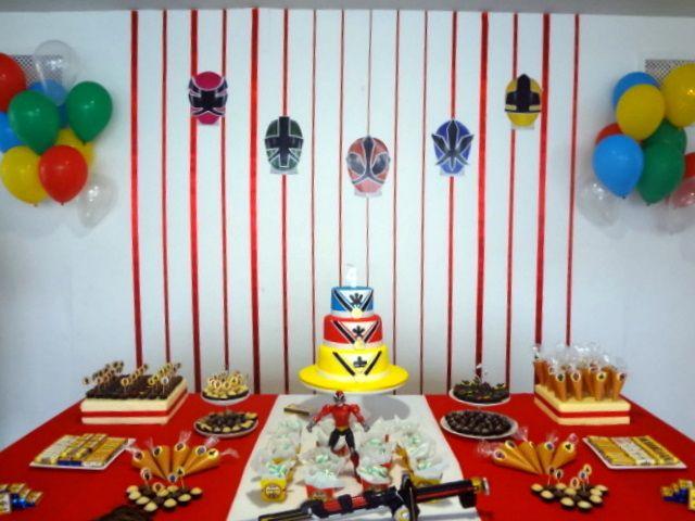 Festejando com Carinho: Power Ranger Samurai do Antonio