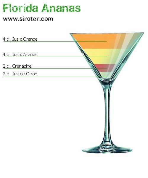 Recette Cocktail FLORIDA ANANAS                                                                                                                                                     Plus