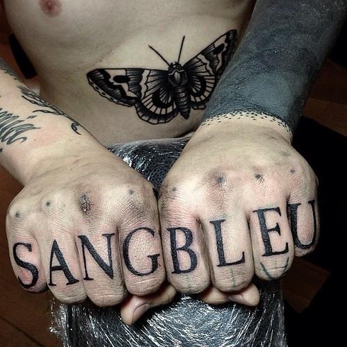 39 sang bleu 39 tattoo by maxime buchi butterfly in the for Sang bleu tattoo