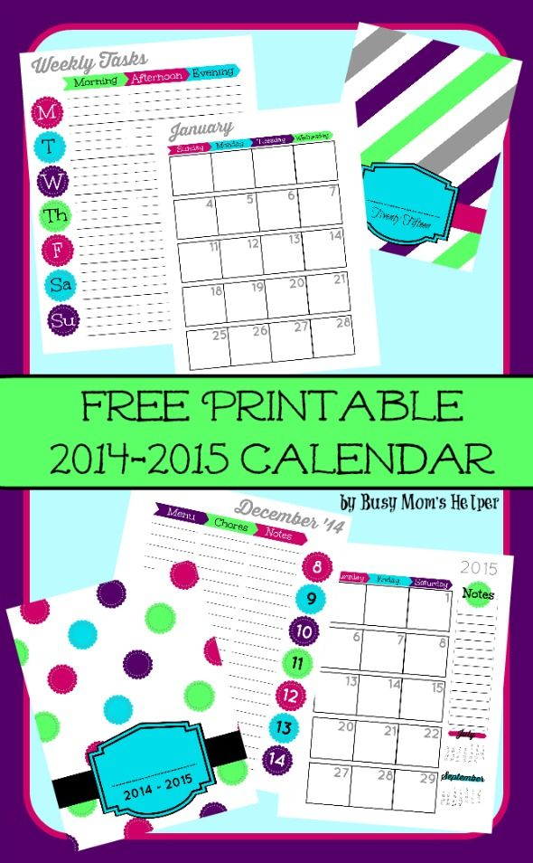 Friday Favorites: Free Printable 2015 Planner, Dealing with Husband's Clutter   more!