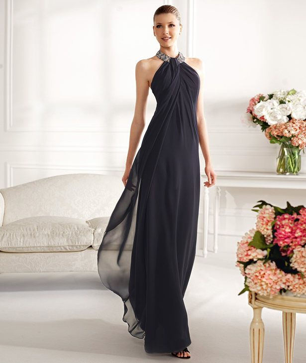 ? Color ?.....Sheath Column Halter Floor Length Mother of the Bride Dress Pepn0126
