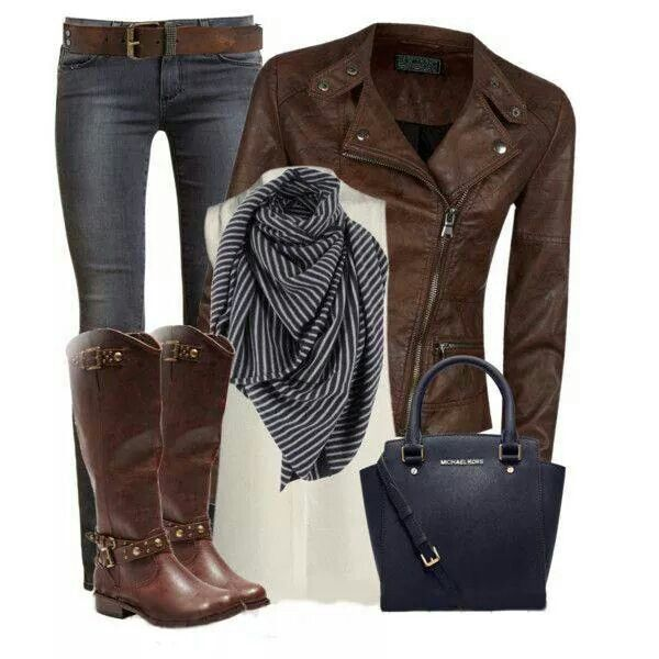 LOVE the jacket, jeans, and boots.