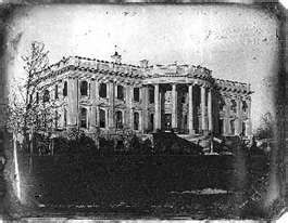 Earliest Known Photo of the White House. 1846 - year my gr-gr-gr-grandfather, William Polk Dobson, died