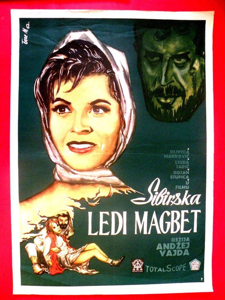 SIBERIAN LADY MACBETH 1962 ANDRZEJ WAJDA  OLIVERA MARKOVIC RARE EXYU MOVIE POST