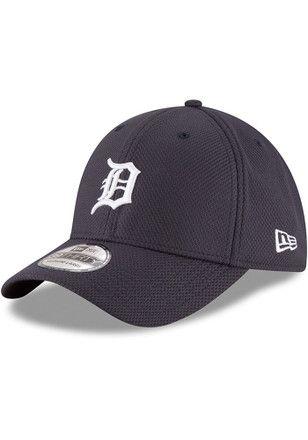 New Era Detroit Tigers Mens Orange DE Classic 39THIRTY Flex Hat