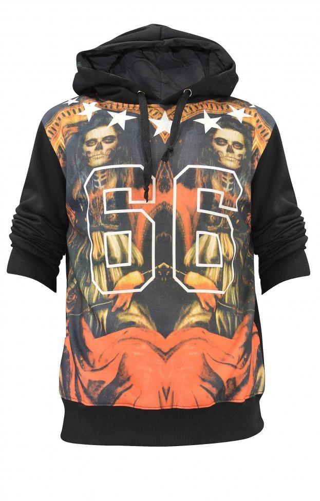 Ανδρικό ψηφιακό φούτερ με κουκούλα | Άνδρας - Φούτερ | Metal Μαύρο