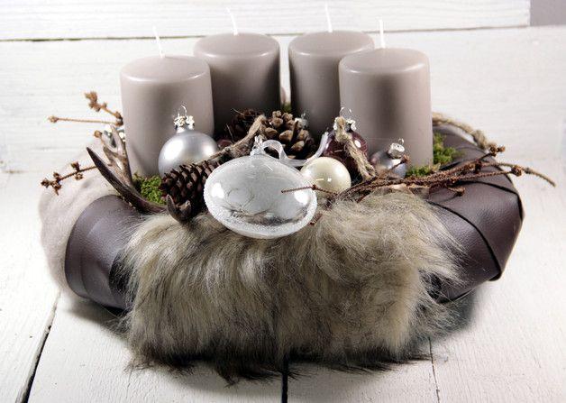 adventskranz adventskranz weihnachtsdeko kerzen. Black Bedroom Furniture Sets. Home Design Ideas