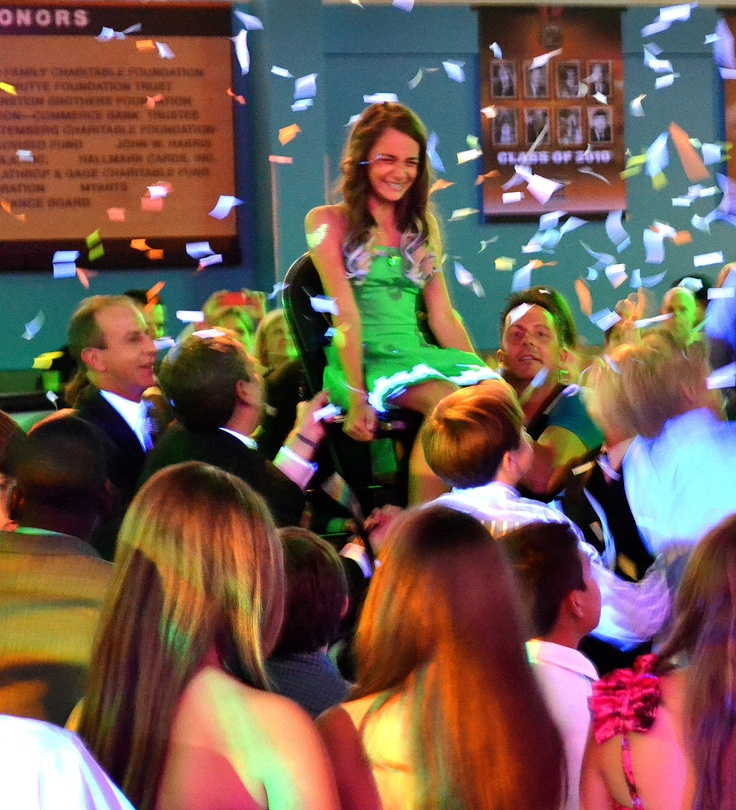 Sydney's Bat Mitzvah at The College Basketball Experience!  This is her in the middle of family and friends surrounded by confetti during the Hora dance!
