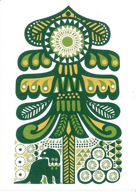 Marimekko & Sanna Annukka Card. I like how Scandi patterns look quite similar to Native American ones sometimes.