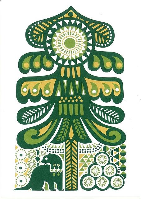 Marimekko & Sanna Annukka Card. I like how Scandi patterns look quite similar to Native American ones sometimes.