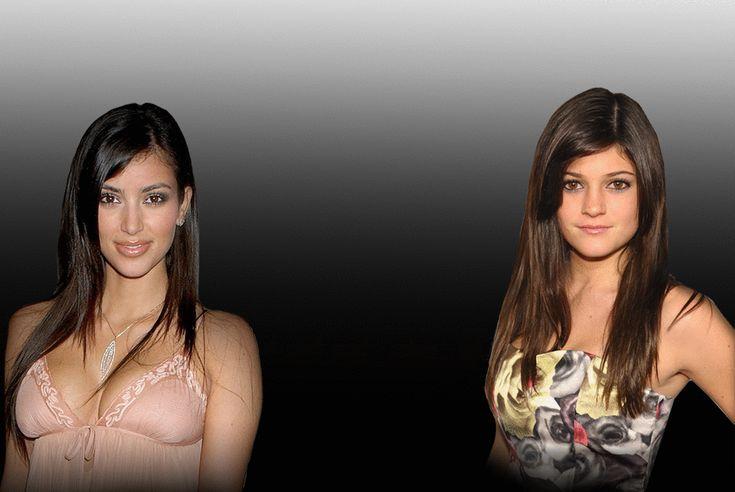 Kim Kardashian, Kylie Jenner, Transformation, Gif