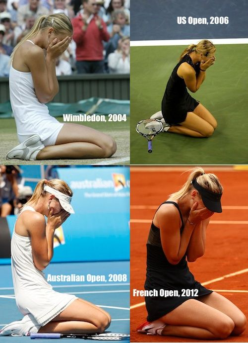 This collage pretty much says it all!  It took a while, but oh, what a milestone! Career Grand Slam!
