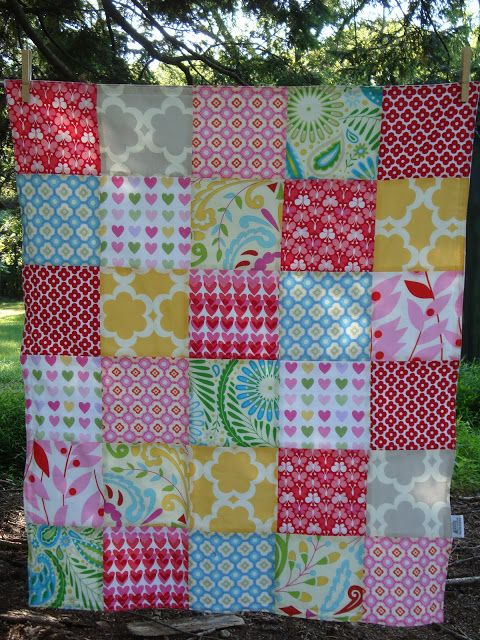 TEXTILE TROLLEY: How to make a patchwork baby blanket (no quilting necessary)
