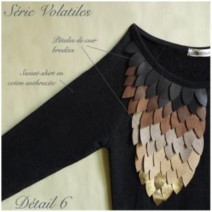 """Série Volatiles"" handmade sweat-shirt"