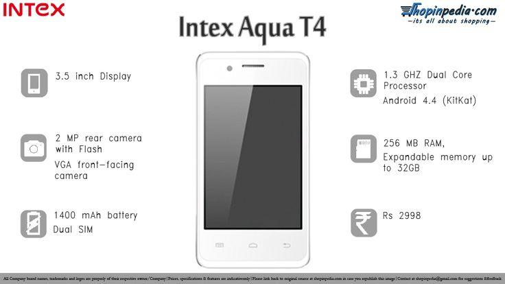 INTEX AQUA T4 Specifications - Infographics– Infographics @ Shopinpedia