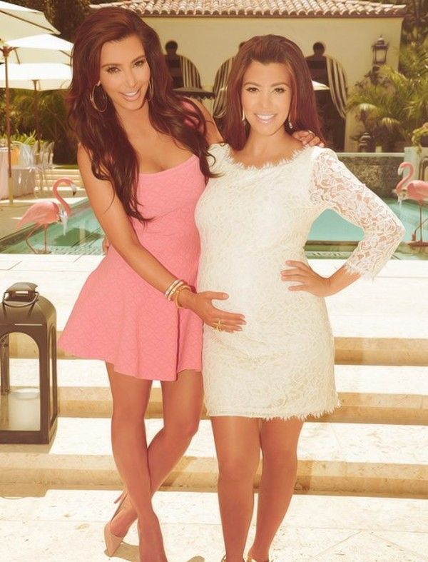 Kim Kardashian Pink Dress Baby Shower | www.pixshark.com ...