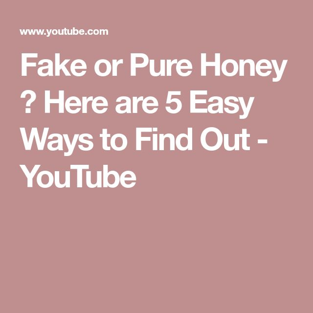 Fake or Pure Honey ? Here are 5 Easy Ways to Find Out - YouTube